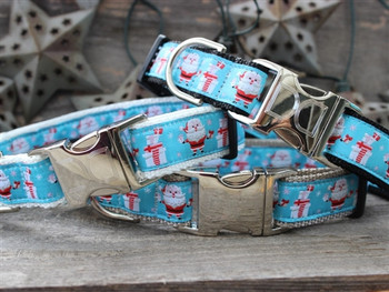 Snowflake Surprise Dog Collar - Personalized Buckle