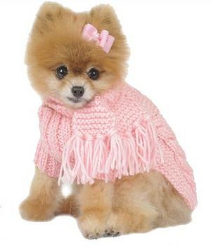 Hand Knit Posh Pale Pink Dog Sweater f80aa4c13