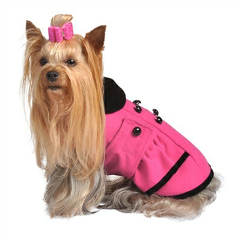 Posh Hot Pink Peplum Dog Coat