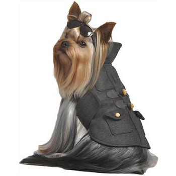 Chic Grey Toggle Dog Coat