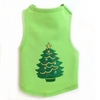 Christmas Tree Knit Dog Tank