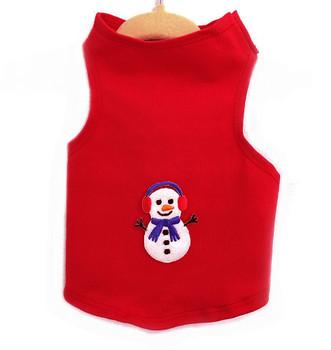 Snowman Knit Dog Tank