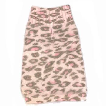 Angora Blend Light Pink Leopard Dog Sweater