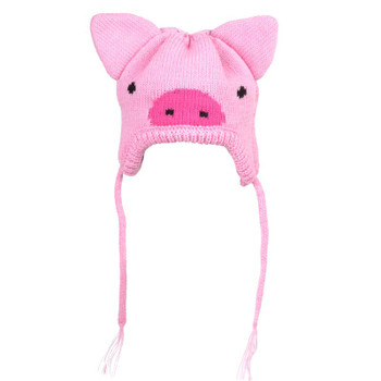 Pink Piggy Pet Dog Hat
