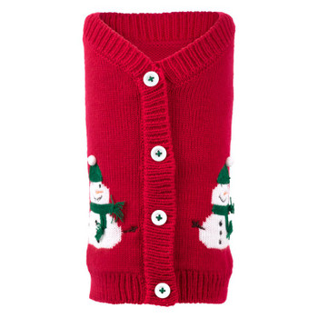 Snowmen Dog Cardigan Sweater