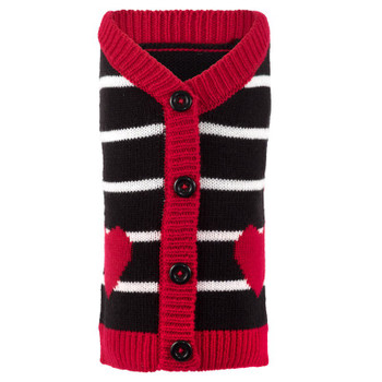 Hearts Dog Cardigan Sweater