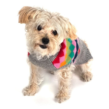 Argyle Fairisle Roll Neck Dog Sweater