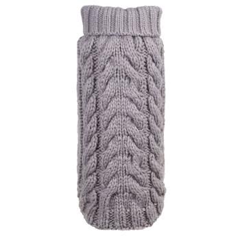 Hand Knit Grey Turtleneck Dog Sweater