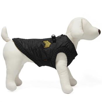 Military Dog Bomber Vest - Black
