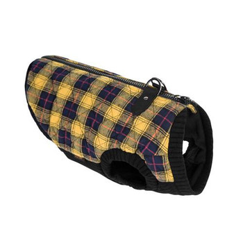 Yellow Plaid Bomber Dog Vest Jacket