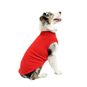 Warm Stretch Fleece Dog Vest Wrap - Red