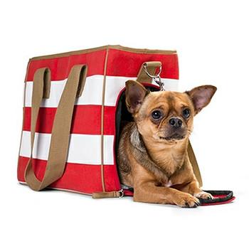 Maritime Pet Dog Carrier Ruegen - Red Stripe