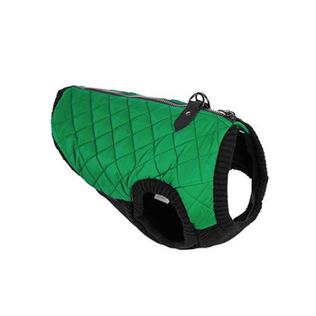 Step In - Zip Up Quilted Fashion Dog Vest - Green
