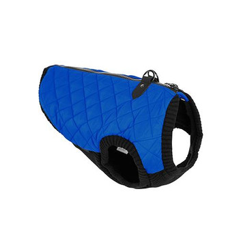 Step In - Zip Up Quilted Fashion Dog Vest - Blue