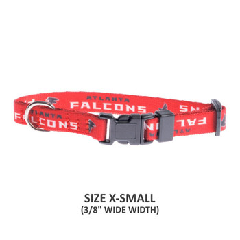 Atlanta Falcons Pet Nylon Collar - Small