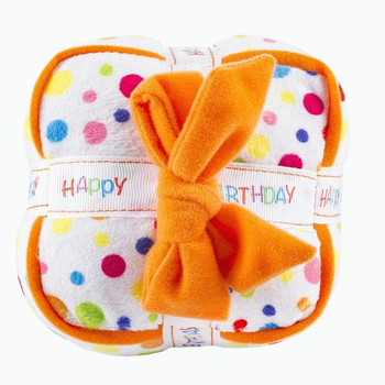 Happy Birthday Gift Box Plush Dog Toy