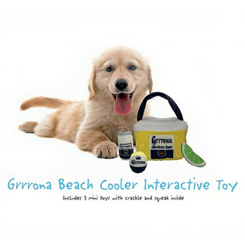 Grrrona Beach Cooler Interactive Dog Toy