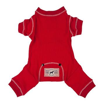 Red Thermal Dog Pajamas / Long Johns