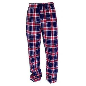 Human Adult Navy Blue  Plaid Flannel Pajama Bottoms
