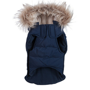 Navy Snorkel Dog Jacket Coat - Removable Hood