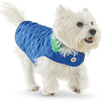 Royal / Kelly Diamond Quilted Dog Coat