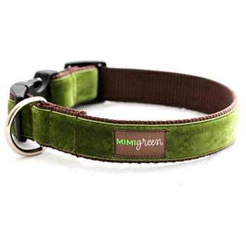Hunter Green Velvet Dog Collar & Optional Leash - Hunter
