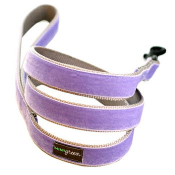 Light Purple Velvet Dog Leash - Violet