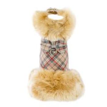 Champagne Fox Fur Dog Coat - Nouveau Bow - Choose Color