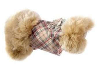 Champagne Fox Fur Dog Coat - Nouveau Bow - Choose Color