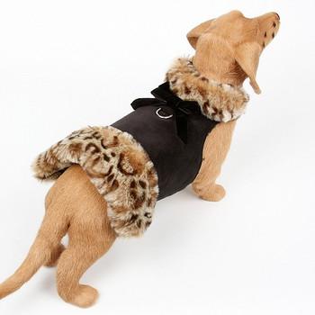 Savannah Fur Dog Coat - Velvet Bow - Choose Color