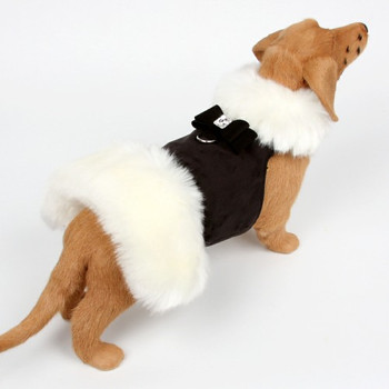White Fox Dog Coat - Big Bow - Choose Color
