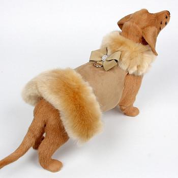 Champagne Fox Dog Coat - Nouveau Bow - Choose Color
