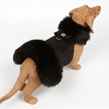 Black Fox Dog Coat - Big Bow - Choose color
