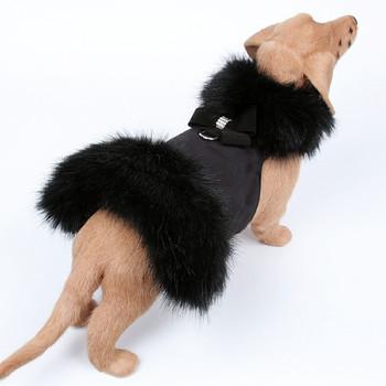 Black Fox Dog Coat - Nouveau Bow - Choose Color