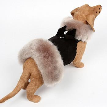 Silver Fox Dog Coat - Nouveau Bow - Choose Color