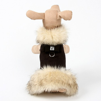 Ivory Fox Dog Coat - Big Bow - Choose Color