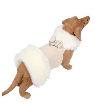 White Fox Dog Coat - Big Bow - Choose Coat Color