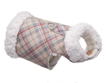 Dog Bowzer - Doe Plaid w/Ivory Shearling