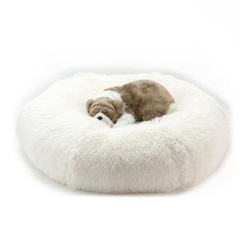 Designer Plush Cream Shag Spa Bed