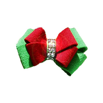 Christmas Ivy Nouveau Bow Dog Hair Bows by Susan Lanci