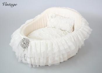 Vintage Crib Dog Bed