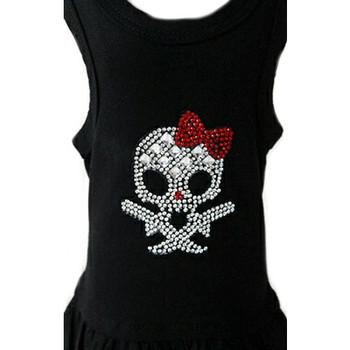 Rhinestone Girly Skull Dog Dress