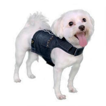 Miles Denim Dog Harness Vest