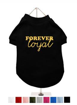 Design Your Own Dog T-Shirt - Gold Glitter / Mirror Wording