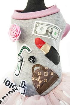 Designer Carrie Bradshaw Pink Tutu Dog Dress
