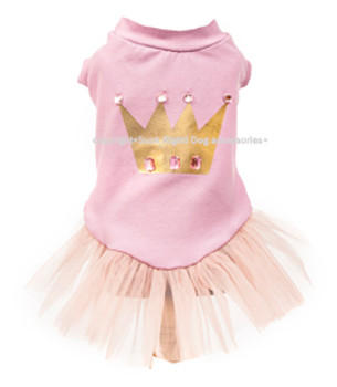 Designer Princess Crown Tutu Dog Dress