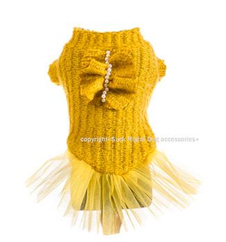 Designer Classy Mustard Tutu Dog Dress