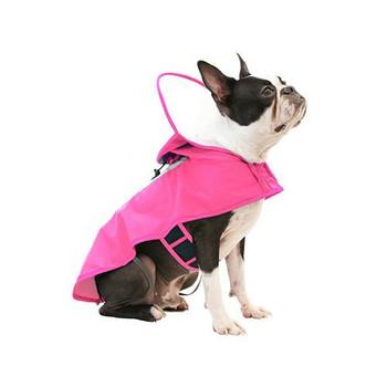 Clear Hooded Dog Rain Coat - Pink