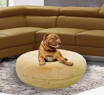 Bagel Pet Dog Bed - Blonde - 5 sizes