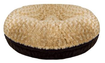 Bagel Pet Dog Bed - Camel Rose / Godiva Brown - 5 sizes